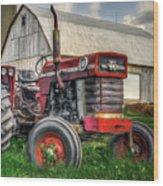 Farm Scene - Painting Wood Print