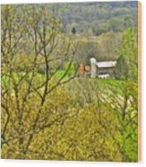 Farm Seen From Culp Hill Lookout In Gettysburg National Military Park-pennsylvania Wood Print
