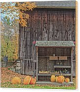 Farm Stand Etna New Hampshire Wood Print