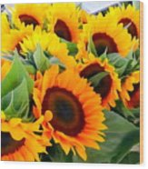 Farm Stand Sunflowers #8 Wood Print