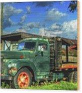 Farm Stand Truck Wood Print