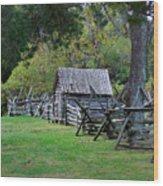 Farm Structures Wood Print
