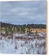 Old Farm Field Li.ny Wood Print