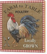 Farm To Table-jp2390 Wood Print