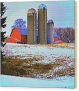 Farm Up Yander Wood Print