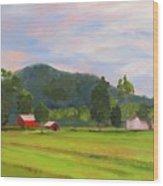 Farm, Washington County Wood Print