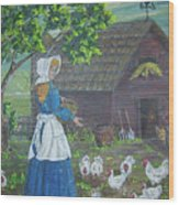 Farm Work I Wood Print
