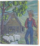 Farm Work II Wood Print