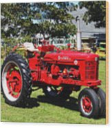 Farmall At The Country Fair Wood Print by Andrew Pacheco