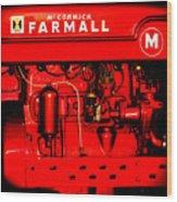 Farmall Engine Detail Wood Print