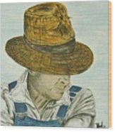 Farmer Ted Wood Print