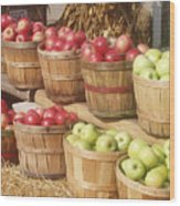 Farmer's Market Apples Wood Print