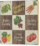 Farmer's Market Patch Wood Print