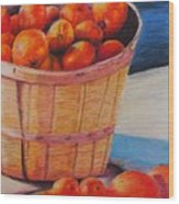 Farmers Market Produce Wood Print by Nadine Rippelmeyer