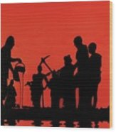 Farmers Night Out Wood Print