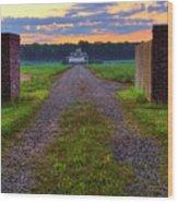 Farmhouse Sunrise - Arkansas - Landscape Wood Print