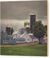 Farming Before The Storm Finger Lakes New York 04 Wood Print
