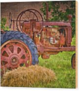 Farming In Hanksville Utah Wood Print