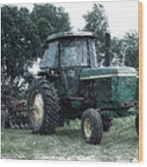Farming John Deere 4430 Pa 01 Wood Print