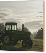 Farming John Deere 4430 Wood Print