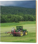 Farming New York State Before The July Storm 02 Wood Print
