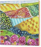 Farming Patterns Wood Print