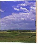 Farmland In Gettysburg Version II Wood Print