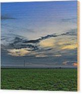 Farmland Panorama Wood Print