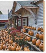 Farmstand Wood Print