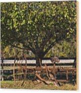 Farmtime Wood Print