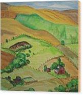 Farmville Wood Print