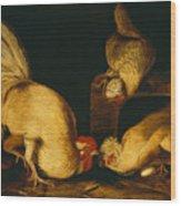 Farmyard Fowls Wood Print