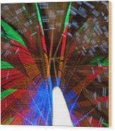 Farris Wheel Light Abstract Wood Print