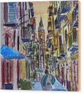 Fascinating Palermo Sicily Italy Street Scene Wood Print