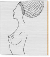 Fashion Drawing Wood Print by Frank Tschakert