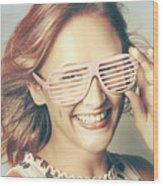 Fashion Eyewear Pin-up Wood Print