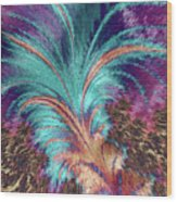 Feather Abstract Wood Print