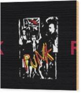 Punk Rock Alternative Style Design Wood Print