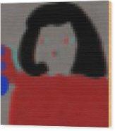 Fashion Pixel Lady Wood Print