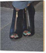 Fashionable Feet Wood Print