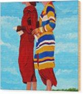 Fashionable Ladies Wood Print