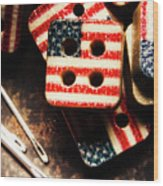 Fashioning A Usa Design Wood Print