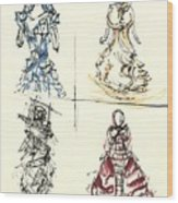 Fashionista 4 Wood Print