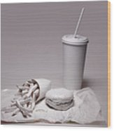 Fast Food Drive Through Wood Print