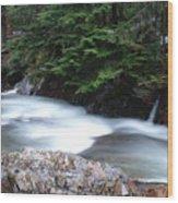 Fast Water Tumbling Fast  Wood Print