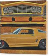Fast Yellow Wood Print