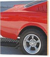 Fastback Mustang Wood Print