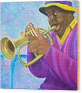 Fat Albert Plays The Trumpet Wood Print