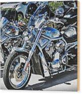 Fat And Glitzy Harleys Wood Print