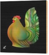 Fat Chicken By Rafi Talby  Wood Print